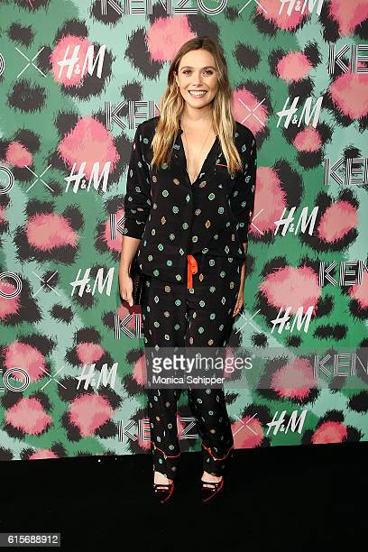 Actress Elizabeth Olsen attends KENZO x HM Arrivals at Pier 36 on October 19 2016 in New York City