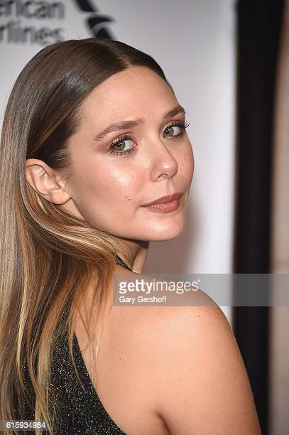 Actress Elizabeth Olsen attends the 2016 American Ballet Theatre Fall Gala at David H Koch Theater at Lincoln Center on October 20 2016 in New York...