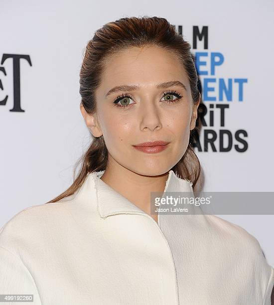 Actress Elizabeth Olsen attends the 2016 Film Independent Spirit Awards nomination press conference at W Hollywood on November 24 2015 in Hollywood...