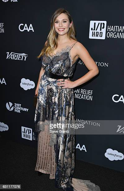 Actress Elizabeth Olsen attends the 6th Annual Sean Penn Friends HAITI RISING Gala Benefiting J/P Haitian Relief Organization at Montage Beverly...
