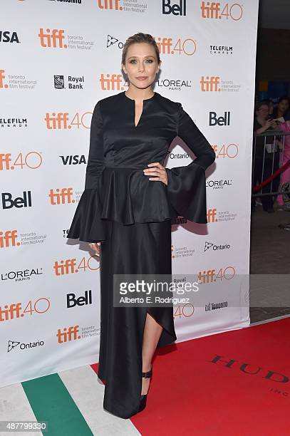 Actress Elizabeth Olsen attends the I Saw the Light premiere during the 2015 Toronto International Film Festival at Ryerson Theatre on September 11...