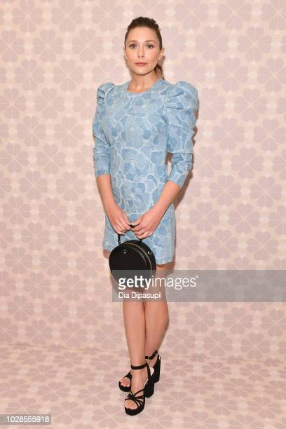 Actress Elizabeth Olsen attends the Kate Spade New York Fashion Show during New York Fashion Week at New York Public Library on September 7 2018 in...