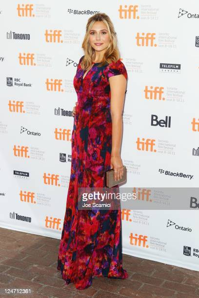 Actress Elizabeth Olsen attends the Martha Marcy May Marlene premiere at Ryerson Theatre during the 2011 Toronto International Film Festival on...