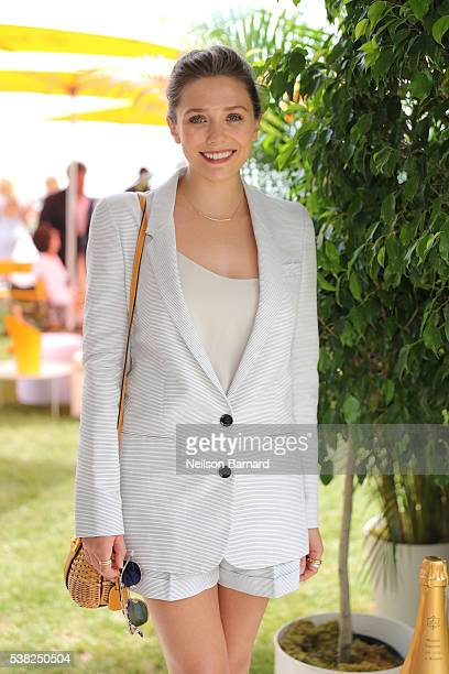 Actress Elizabeth Olsen attends the Ninth Annual Veuve Clicquot Polo Classic at Liberty State Park on June 4 2016 in Jersey City New Jersey