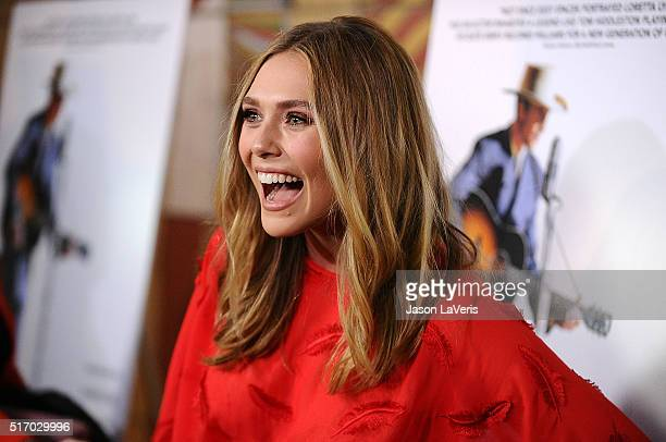 Actress Elizabeth Olsen attends the premiere of 'I Saw The Light' at the Egyptian Theatre on March 22 2016 in Hollywood California