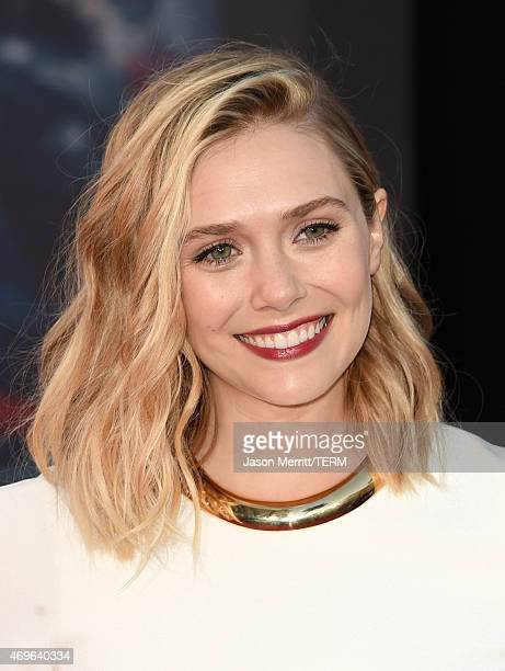 Actress Elizabeth Olsen attends the premiere of Marvel's 'Avengers Age Of Ultron' at Dolby Theatre on April 13 2015 in Hollywood California