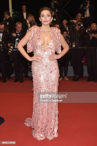 Actress Elizabeth Olsen attends The Square premiere during the 70th annual Cannes Film Festival at Palais des Festivals on May 20 2017 in Cannes...