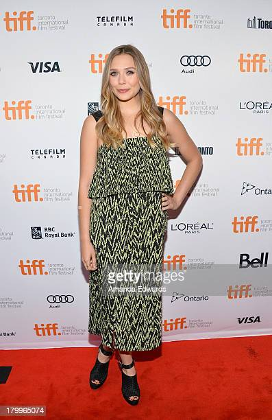 """Actress Elizabeth Olsen attends the """"Therese"""" premiere during the 2013 Toronto International Film Festival at Isabel Bader Theatre on September 7,..."""