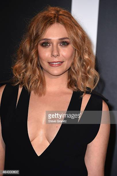 Actress Elizabeth Olsen attends the TOM FORD Autumn/Winter 2015 Womenswear Collection Presentation at Milk Studios in Los Angeles on February 20 2015
