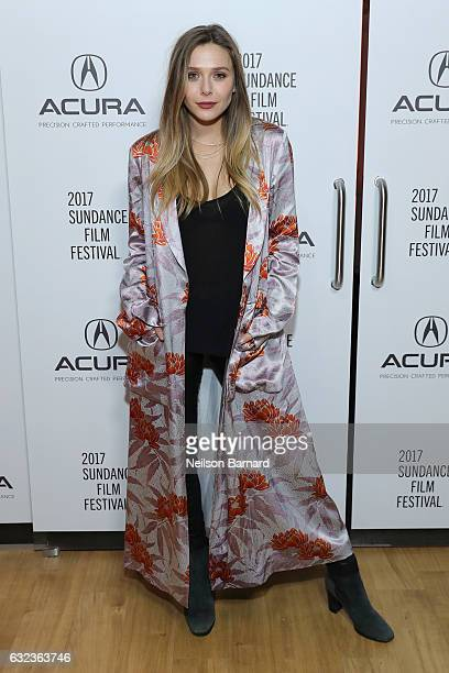Actress Elizabeth Olsen attends the 'Wind River' Party at the Acura Studio at Sundance Film Festival on January 21 2017 in Park City Utah