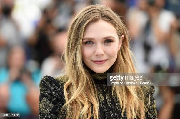 """Actress Elizabeth Olsen attends the """"Wind River"""" photocall during the 70th annual Cannes Film Festival at Palais des Festivals on May 20, 2017 in..."""