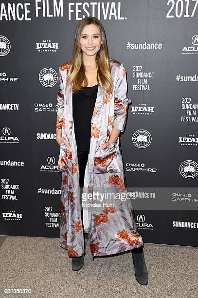 Actress Elizabeth Olsen attends the 'Wind River' premiere on day 3 of the 2017 Sundance Film Festival at Eccles Center Theatre on January 21 2017 in...