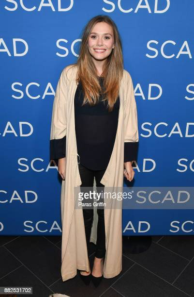 Actress Elizabeth Olsen attends 'Wind River' special screening at SCADShow on November 29 2017 in Atlanta Georgia