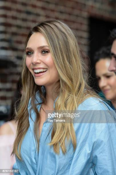 Actress Elizabeth Olsen enters the 'The Late Show With Stephen Colbert' taping at the Ed Sullivan Theater on August 03 2017 in New York City