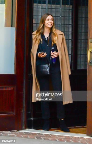 Actress Elizabeth Olsen is seen in Soho on October 18 2017 in New York City
