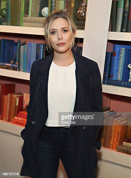 Actress Elizabeth Olsen of I Saw the Light poses for a photo during Talent Junket Interview at The Jen Library during Day Eight of 18th Annual...