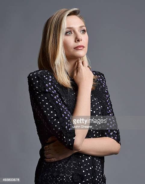 Actress Elizabeth Olsen poses for a portrait at the I Saw The Light press day on October 17 2015 in Nashville Tennessee