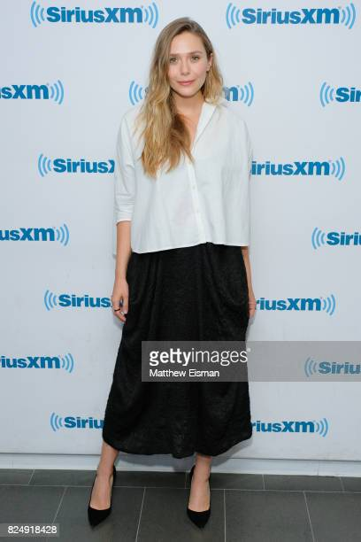 Actress Elizabeth Olsen visits SiriusXM Studios on July 31 2017 in New York City