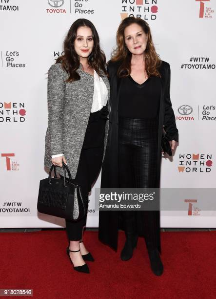Actress Elizabeth Perkins and her daughter Hannah Jo Phillips arrive at the 2018 Women In The World Los Angeles Salon at NeueHouse Hollywood on...