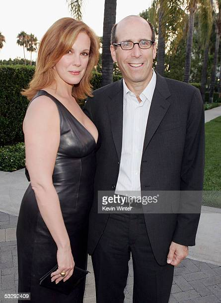 Actress Elizabeth Perkins and Showtime's Chairman and CEO Matt Blank pose at the premiere screenings of Showtime's Weeds and Barbershop at Paramount...