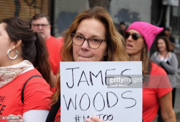 Actress Elizabeth Perkins participates in the Take Back The Workplace March and #MeToo Survivors March Rally on November 12 2017 in Hollywood...