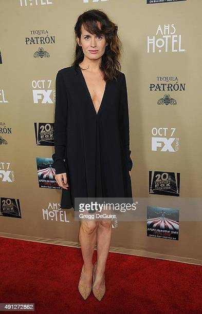 Actress Elizabeth Reaser arrives at the premiere screening of FX's American Horror Story Hotel at Regal Cinemas LA Live on October 3 2015 in Los...