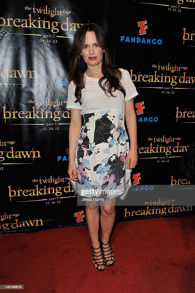 Actress Elizabeth Reaser attends 'The Twilight Saga: Breaking Dawn Part 2' VIP Comic-Con Celebration Sponsored by Fandango at Float in the Hard Rock Hotel on July 11, 2012 in San Diego, California.