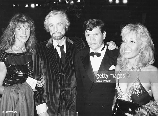 Actress Elizabeth ReesWilliams with her husband Peter Aitken exhusband Richard Harris and actress Ann Turkel attending a performance of the play...