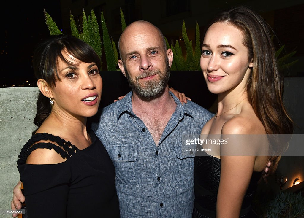 Actress Elizabeth Rodriguez, writer/producer Dave Erickson and actress Alycia Debnam-Carey attend AMC, ET And Tumblr's 'Fear The Walking Dead' Event during Comic-Con International 2015 on July 10, 2015 in San Diego, California.
