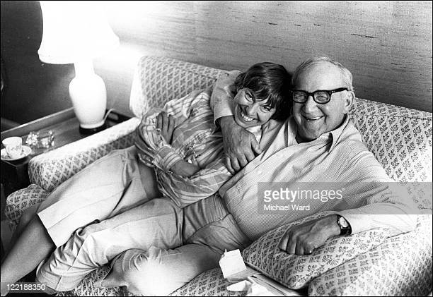 Actress Elizabeth Seal and jazz musician Benny Goodman 1982