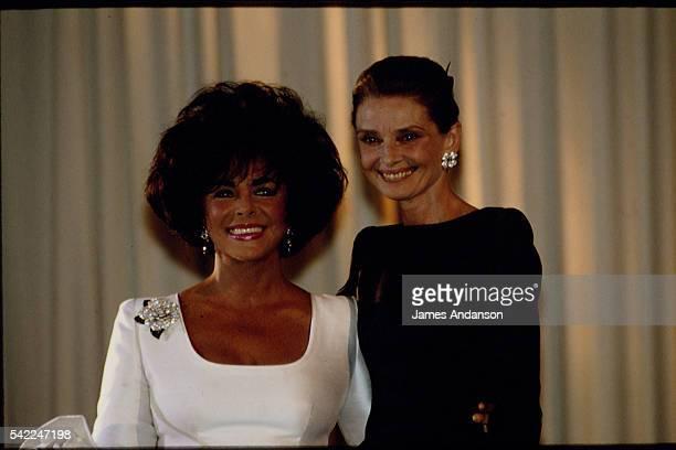 Actress Elizabeth Taylor and Belgianborn actress Audrey Hepburn