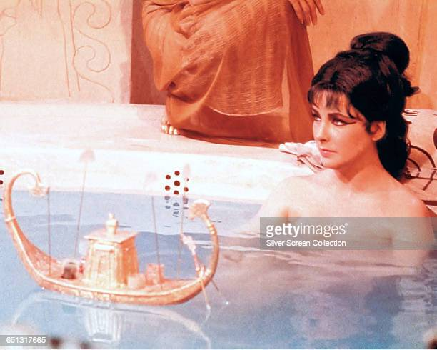 Actress Elizabeth Taylor as the famed Egyptian queen in the historical epic 'Cleopatra' 1963