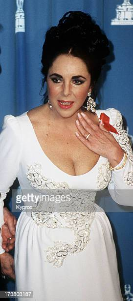 Actress Elizabeth Taylor at the 64th Annual Academy Awards USA 30th March 1992