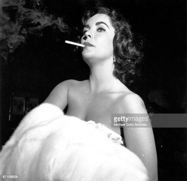 Actress Elizabeth Taylor attends the premiere of the movie 'Moby Dick' on July 2 1956 in Los Angeles California