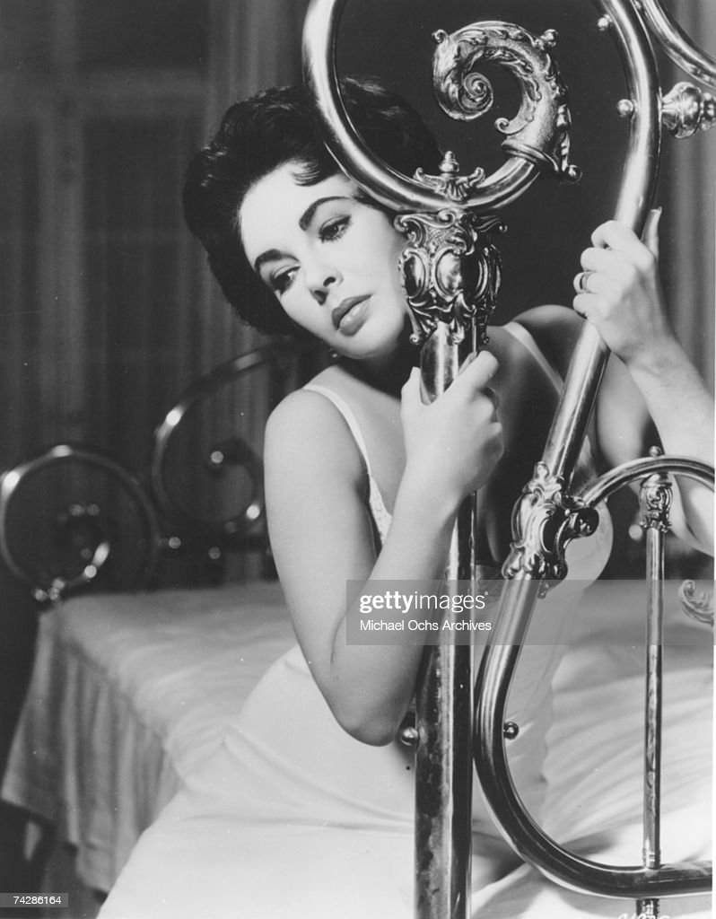 Actress Elizabeth Taylor In A Scene From The Movie U0027Cat On A Hot Tin Roof