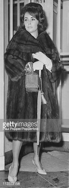 Actress Elizabeth Taylor leaving the Dorchester on her way to London Airport to fly to Paris 25th November 1960 She has been taking a break from...