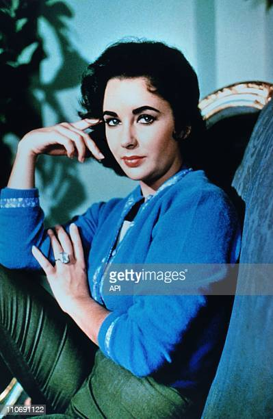 Actress Elizabeth Taylor poses during a portrait session during the 1950's in the USA