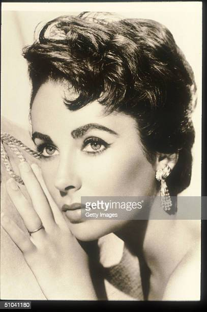 Actress Elizabeth Taylor Poses In An Old Film Still circa 1950 Taylor Is An Award Winning Actress Who Has Appeared In Such Films As Who's Afraid Of...