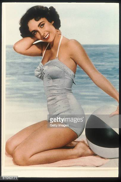 Actress Elizabeth Taylor Poses In An Old Film Still circa 1955 Taylor Is An Award Winning Actress Who Has Appeared In Such Films As Who's Afraid Of...