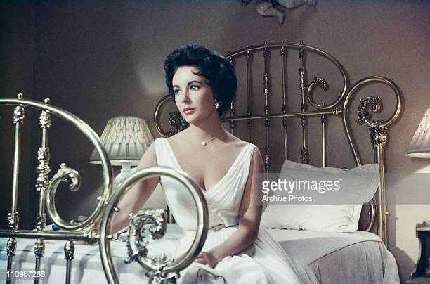 Actress Elizabeth Taylor stars in the MGM film, 'Cat On A Hot Tin Roof', 1958.