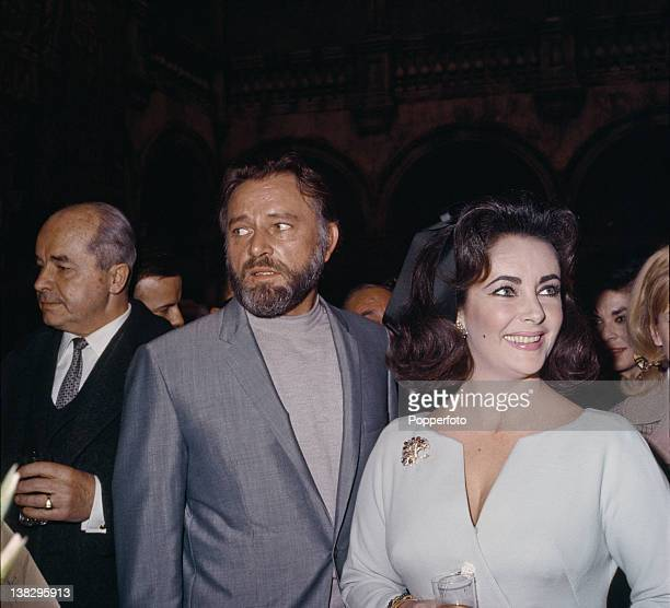 Actress Elizabeth Taylor with her husband actor Richard Burton March 1966