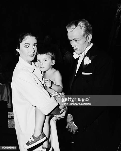Actress Elizabeth Taylor with Son and James Dean