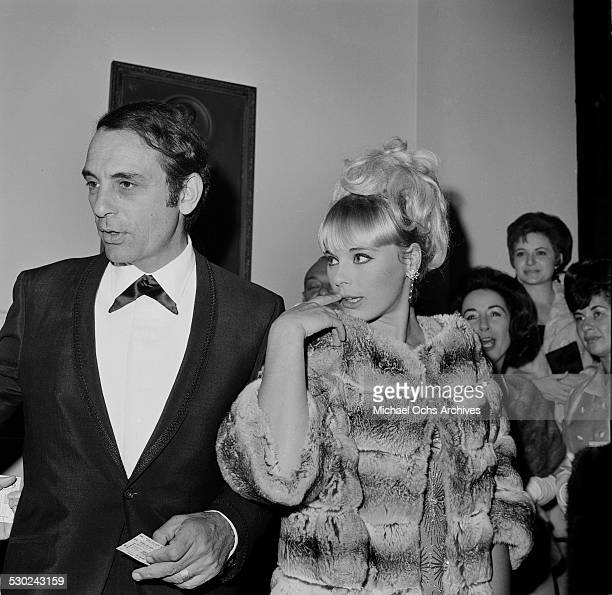 Actress Elke Sommer and husband Joe Hyams attend an event in Los AngelesCA