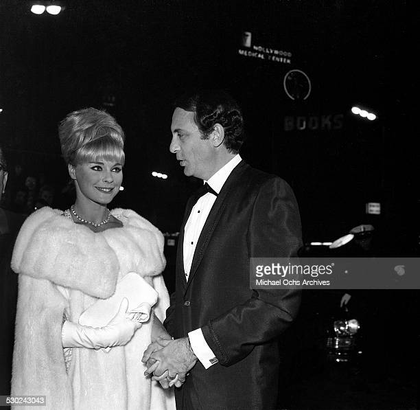 Actress Elke Sommer and husband Joe Hyams attend the Oscar party in Los Angeles,CA.