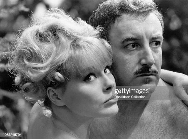 "Actress Elke Sommer and Peter Sellers in a scene from the movie ""A Shot in the Dark"""