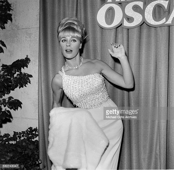 Actress Elke Sommer attends the Oscar party in Los AngelesCA