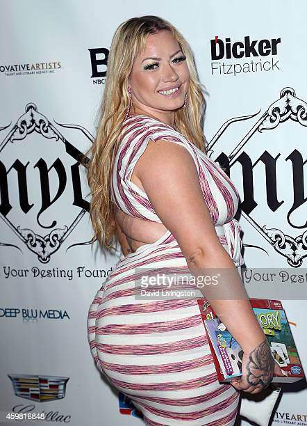 Actress Elke The Stallion Madler attends the 7th Annual Manifest Your Destiny Toy Drive Fundraiser hosted by Hill Harper and Nate Parker at Avalon on...