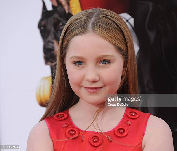 Actress Ella Anderson arrives at the premiere of USA Pictures' The Boss at Regency Village Theatre on March 28 2016 in Westwood California