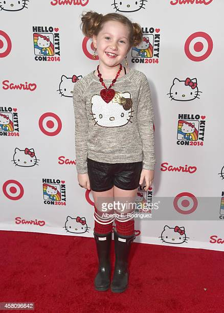 Actress Ella Anderson arrives to Hello Kitty Con 2014 Opening Night Party Cohosted by Target on October 29 2014 in Los Angeles California