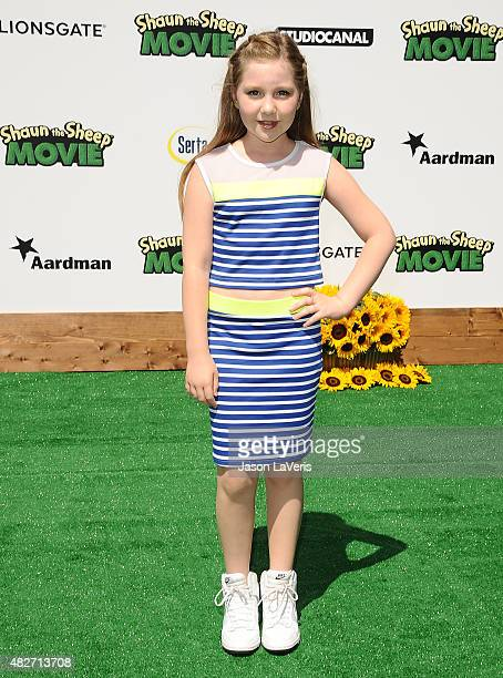 Actress Ella Anderson attends a screening of Lionsgate's 'Shaun The Sheep Movie' at Regency Village Theatre on August 1 2015 in Westwood California